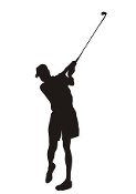Golfer Silhouette  Decal Sticker