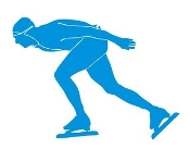 Speed Skater Silhouette 3 Decal Sticker