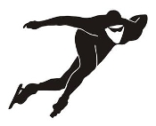 Speed Skater Silhouette 5 Decal Sticker