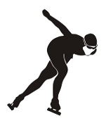 Speed Skater Silhouette 7 Decal Sticker