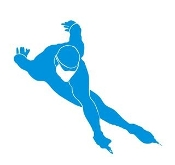 Speed Skater Silhouette 9 Decal Sticker