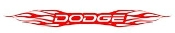 Dodge Flames Decal Sticker