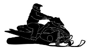 Snowmobile 4 Decal Sticker