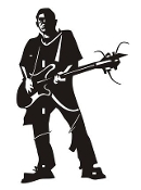 Guitarist 12 Decal Sticker