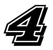 Harvick 4 Decal Sticker