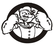 Popeye v6 Decal Sticker