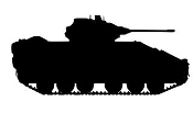 Army Tank Silhouette v4 Decal Sticker