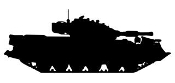 Army Tank Silhouette v7 Decal Sticker