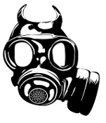 Gas Mask v3 Decal Sticker