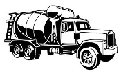 Concrete Truck v2 Decal Sticker