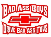 Bad Ass Boys Chevy v3 Decal Sticker