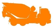 Concrete Truck Silhouette v1 Decal Sticker