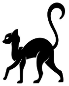 Cat Silhouette v14 Decal Sticker