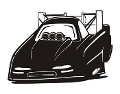 Funny Car v3 Decal Sticker