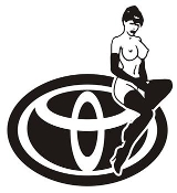 Toyota Girl v8 Decal Sticker