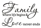 Family Where Life Begins v2 Decal