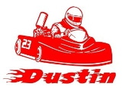 Personalized Go Kart Racer Name Decal Sticker