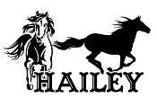 Personalized Name with Horses v2 Decal Sticker