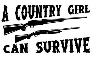Country Girl Can Survive Decal Sticker