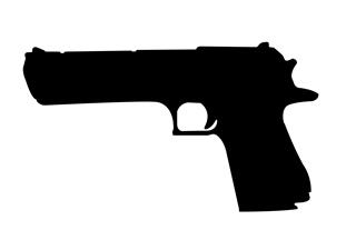 desert eagle handgun silhouette decal sticker