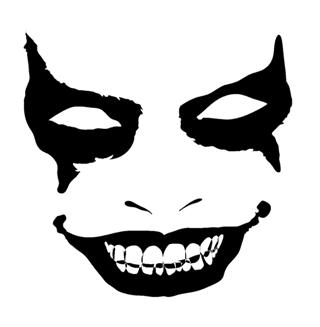 evil face pumpkin template - evil face 1 decal sticker