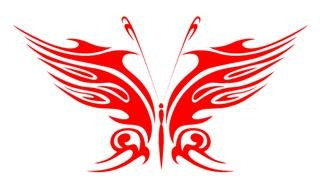 Tribal Butterfly 19 Decal Sticker
