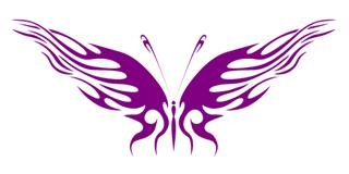 Tribal Butterfly 24 Decal Sticker