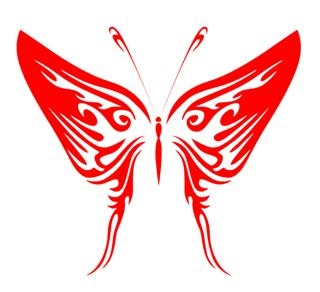 Tribal Butterfly 26 Decal Sticker