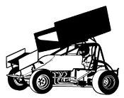 Sprint Car Side View v1 Decal Sticker