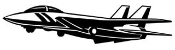 Fighter Jet v1 Decal Sticker