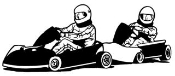 2 Go Karts Racing Decal Sticker