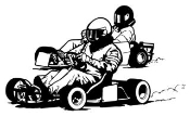 2 Go Karts Racing v2 Decal Sticker