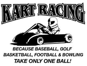 Kart Racing Takes Balls 2 Decal Sticker
