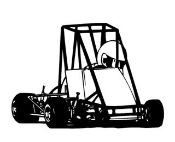 Quarter Midget Decal Sticker