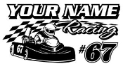 Personalized Go Kart Racing v6 Decal Sticker
