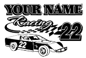 Personalized Modified Racing v1 Decal Sticker