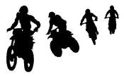 Motocross Jump Silhouette Decal Sticker
