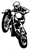Motocross Racer v8 Decal Sticker