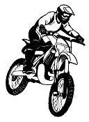 Motocross Racer v12 Decal Sticker