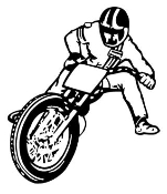 Flat Track Motorcycle Racer v2 Decal Sticker