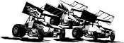 3 Sprint Cars Decal Sticker