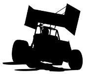 Sprint Car Silhouette Decal Sticker