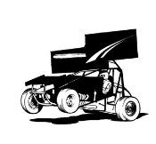 Sprint Car Wheelie v1 Decal Sticker