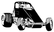 Wingless Sprint Car v3 Decal Sticker