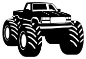 Monster Truck v2 Decal Sticker