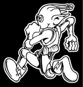 Alien Running Decal Sticker