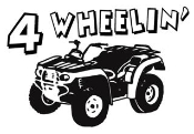 4 Wheelin ATV Decal Sticker
