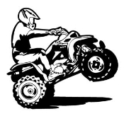 ATV Wheelie Decal Sticker