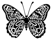 Butterfly v6 Decal Sticker