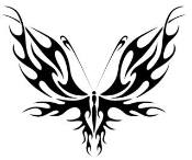 Tribal Butterfly v1 Decal Sticker
